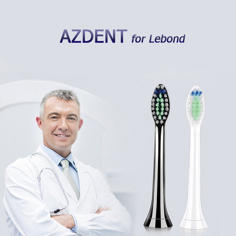 AZDENT Replacements Heads for Lebond White 2pcs